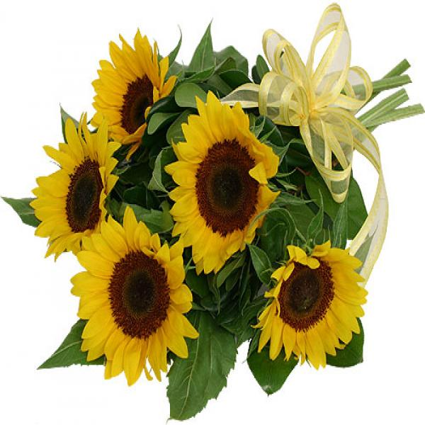 Sunflower bouquet flowers to ontario canada delivery